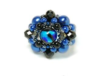 ホタル玉ボリュームリング*ブルーの画像