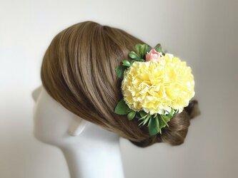 フラメンコ・ダンス髪飾りに♡カーネーションのヘアクリップの画像