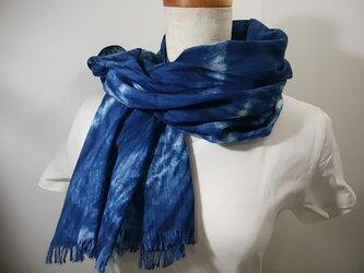 さらっと綿麻の藍染ストールno.3の画像
