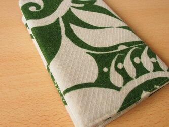 ブックカバー A5サイズ ウール柄布の画像