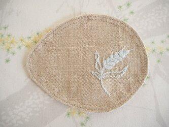 麦のコースター Flax(Beige)×Blueの画像