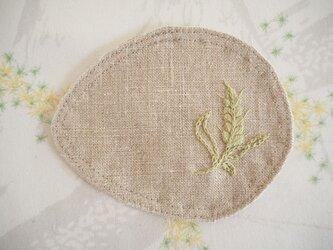 麦のコースター Flax(Beige)×Greenの画像