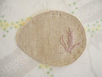 麦のコースター Flax(Beige)×Pinkの画像