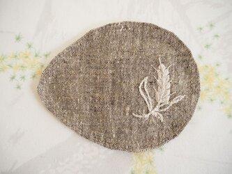 麦のコースター Browm×Grayの画像