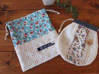 巾着袋2種類セット*送料無料*の画像