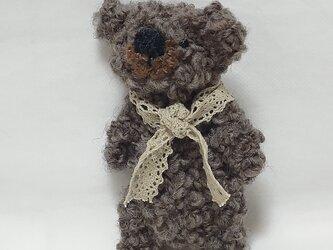 薄茶色のコアラさん(アルパカ毛糸)の画像