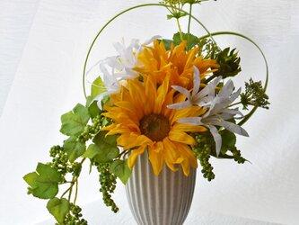 商品番号602「-Sun Flower-ひまわり」アーティフィシャルフラワーアレンジの画像