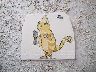タイルの動物図鑑 エボシカメレオンの画像