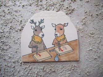 タイルの動物図鑑 シカの画像