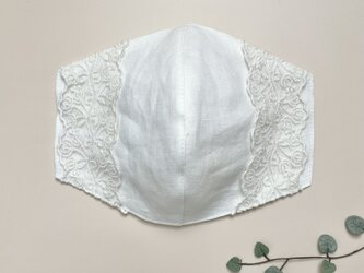 やわらかリネンの不織布マスクカバー * 送料無料 *の画像
