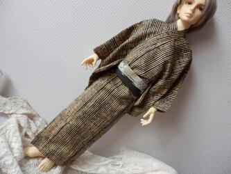粋な着物 SD16タイプ用 縞模様の画像