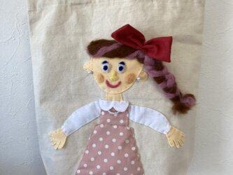 女の子バッグ  ドットピンクの画像