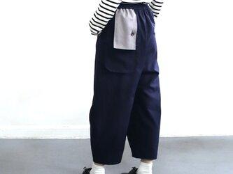 flag flap pants (navy)の画像