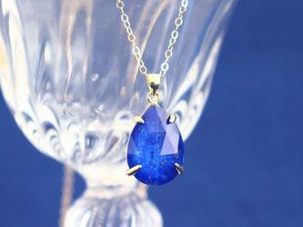 ラピス&クリスタルのネックレス~Lapislazuli & Crystallized quartzの画像