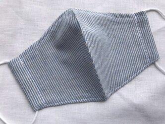 マスク 普通サイズ 「ブルー ストライプ」の画像