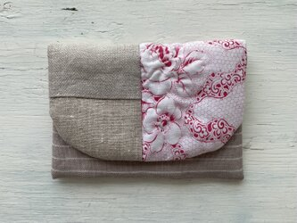 french fabric -linen pouchの画像