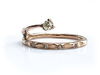 twine ring [K18PG x イエローダイヤ]の画像