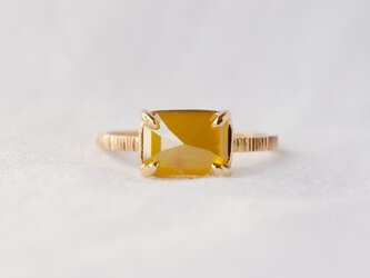 Yellow Gardenia Diamond Ringの画像