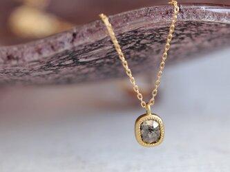 K18 ローズカット・ダイヤモンドネックレス 〈オーバル・ブラウン〉の画像