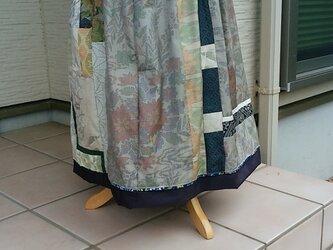 着物リメイク 夏の装い エレガントスカート  裏付き 一点品の画像