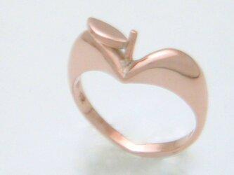"""大人気!かわいい""""りんごの指輪""""ピンクシルバーの画像"""
