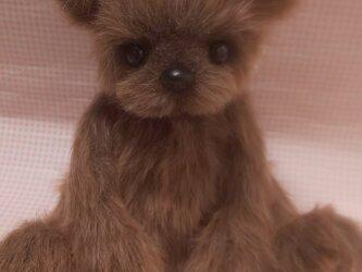 ふわふわぬいぐるみ☆テディベア風くまさん☆Lサイズ☆ブラウンの画像