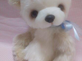 ふわふわぬいぐるみ☆フェイクファー☆ゆめかわパンダさん☆の画像