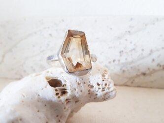【14号】citrine ring silver925の画像