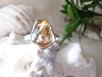 【13号】citrine ring silver925の画像