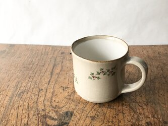 白化粧色絵 マグカップ ノブドウの画像
