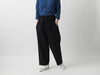 【new】木間服装製作 / pants cotton black / unisex 1sizeの画像