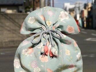 再販 着物 巾着 桜文 幸せを呼ぶFUGURO 大サイズ の画像