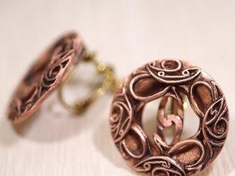 縄文 『耳飾りのイヤリング』 (659-499/純銅製)の画像