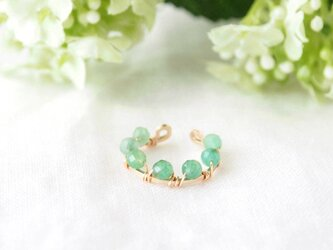 Circle  Cuff(emerald)-片耳-の画像