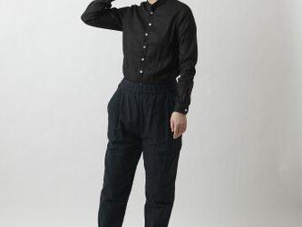 【new】yohaku備後節織パンツ 藍×草木重ね染め ユニセックス3サイズの画像