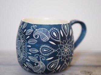 青いマグカップ(大4)の画像