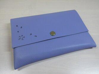 A6、お薬手帳、母子手帳対応・「HANABIRA」ゴートスキン・一枚革のマルチケース・カードポケット付き・0230の画像