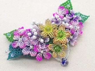 バレッタ Bouquet  (紫陽花02)の画像
