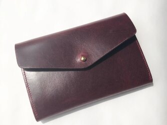 小銭が探しやすい 革のミニ財布 イタリア製レザー Medium Basic Walletの画像