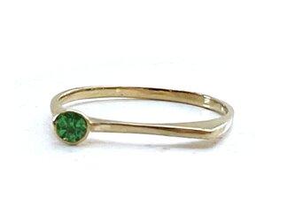 rod ring [K18YG x グリーンガーネット]の画像