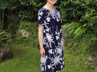 菊の花 浴衣生地リメイクワンピースの画像