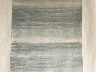 ろうけつ染め絹地(4.5m・緑味グレーぼかし)の画像