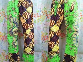 アフリカ布もんぺパンツの画像