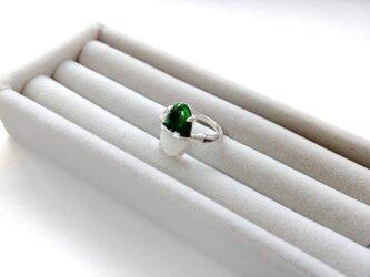 七宝リング(バイカラー)緑白の画像
