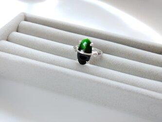 七宝リング(バイカラー)緑黒の画像