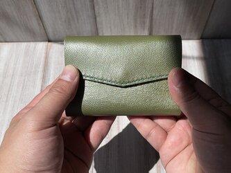 お札を折らずに入れられる!軽いヤギ革の極小ミニ財布(Lサイズ)の画像