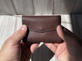 お札を折らずに入れられる!軽い豚革の極小ミニ財布(Lサイズ)の画像