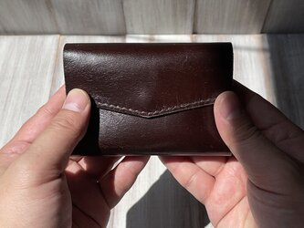 お札を折らずに入れられる!軽い馬革の極小ミニ財布(Lサイズ)の画像