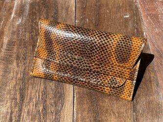 金運アップに!カロングのベルト付き2層カードケースの画像