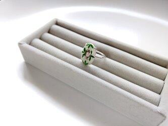 七宝とトルマリンのリングの画像
